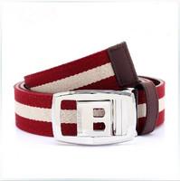 Top level Luxury brand Unisex classic fashion belt 100% genuine leather waist belt for men canvas strap buckle belt leather belt
