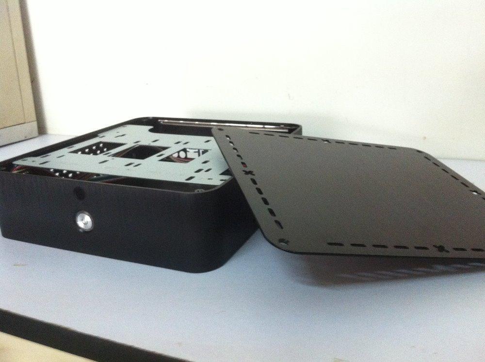 Mini ITX Case Aluminum Alloy Desktop Computer Case Horizontal Htpc High-Definition Television Set-Top Boxes(China (Mainland))