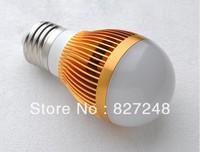 Shell color gold E27 e27 base led 5730smd 3w LED Bulbs light ac110v 220V Aluminum LED lamp Bubble Ball Bulb indoor lighting usa