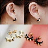 ES378  Hot 2014 Jewelry Christmas Gift U-type Earrings Fashion Punk Rivet Wholesales Free shipping
