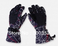 High quality men winter ski gloves warm waterproof breathable hi-tech mittens brand sports gloves