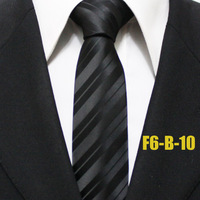 Fashion Classic Mens Popular Black Diagonal Striped Ties For Man Neckties For Shirt Gravatas 6CM F6-B-10