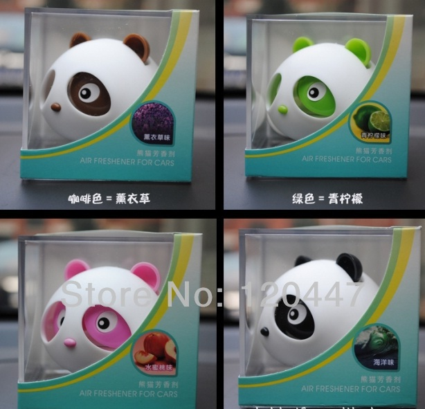 spring 2014 new lovely panda car solid fragrance perfume cheap car seat wholesale freeship Heavy for free ship(China (Mainland))