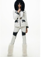 Hot!!Winter Europe New Fashion Women Blue White Patchwork Slim Light White Duck Down Pants Skinny Warm Pants F15161