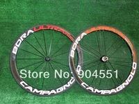 full carbon bike wheels/carbon road bicycle complete wheelset 50mm /clincher ,light weight