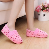 2013 Fashion New Popular Indoor Home Slippers,3 color Flat Cotton-Padded Shoes,Warm Winter Slippers For Women&Men