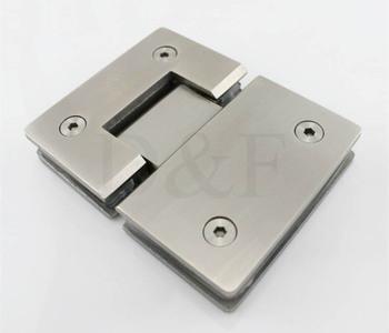Glass Door hardware Stainless Steel 304 Wall Mount Glass Showe Hinge Glass Clamp Door Hinge  (180 Degrees is open)