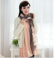 2013 han edition of the new national retro paris yarn  printed lace long blue and white porcelain lady scarf  C239