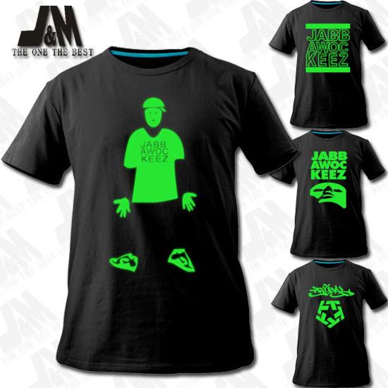 Máscara de jabbawockeez t-shirt o primeiro grupo boate camisa luminosa Dance Club(China (Mainland))