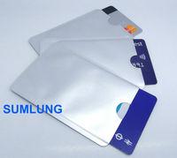 100pcs/lot RFID Blocking Sleeves for Credit & Debit Card BLANK no printing OEM wholesale FREE Shipping