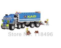 FREE SHIPPING Christmas gift Enlighten Child 6409 educational toys Dumper Truck KAZI DIY toys building block sets,children toys