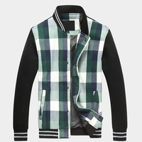 Autumn & Spring Clothing Men Fashion Plaid Design Jacket  Size M-2XL Good Quality Man Outdoor Casual Outerwear LC8011
