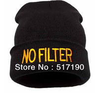 "Whosale 100% Acrylic ""No Filter ""Letter styles knitted caps2013 new styles hot fashion beanie"