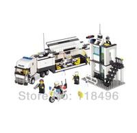 Free Shipping Kazi Police Truck Building Blocks Sets 511pcs Legoland Educational DIY Bricks Toys