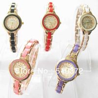 2013 brand new 1pcs 5colors choose Lady Girl WOMEN Quartz Movement watch round bracelet Wristwatches Xmas birthdays gift c44