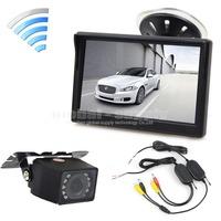 5 Inch Car Monitor + Waterproof IR Car Camera Rear View Security System Wireless Parking Reversing System Kit For Car Van Truck