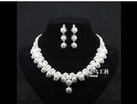perolas Gentlewomen rhinestone pearl the bride married necklace jewelry earrings accessories set  perla Necklace perolas perla