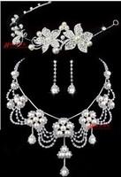 perolas The bride accessories wedding jewellery earrings three pieces set wedding accessories bride pearl necklace  perla