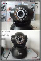 Black Wireless IP Camera F2098A P2P Dual Audio IR Night Vision Monitor Baby Household Cheap