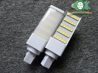(Greenuniverseled)7W Led G24 PL Lamp Aluminum+PC G24/E27 Base 3 years warranty Epistar 25SMD Cornlight