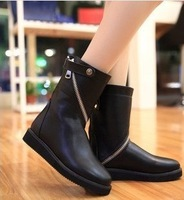 2013 New arrived PU leather women boots scooter knight boots autumn winter Martin boots hot motorcycle boots  free shipping