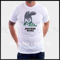 Star wars atat mens t-shirt short-sleeve t-shirt   / 2013 mens sport casual t shirt