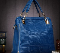 2014 women's genuine leather designer handbags cowhide brand women handbag crocodile pattern messenger bags female shoulder bag