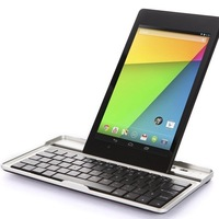 New Bluetooth Wireless Russian/English Keyboard Case Cover for Google FHD 2nd Gen 2013 Nexus 7,Free Shipping + Drop shipping