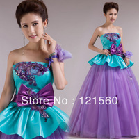 Free shipping Princess  evening dress long design  costume bandage dress 2014 new arrival