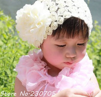 HOT Baby Girls hairband Baby Toddler Hair Accessories Princess Lace Rose Flower Headdress Headwear Christmas Gift Free Shipping