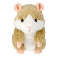 3pcs Hot Cute Speak Talking Sound Record Hamster Talking Plush Toy Animal 2KING COLORS