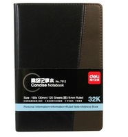 Lackadaisical 7912 high quality advanced commercial leather notepad notebook 120 32k leugth diary