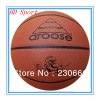 Free Shipping Free With Gift Gas Needle Net Bag Hot Sale Aroose Size 7 Standard Basketball Ball High Quality PU Basketball