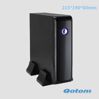 windows mini pc without fan,dc 12v mini pc device QOTOM-T255D with intel atom D2550 processor onboard,2G RAM+16G SSD,dual core