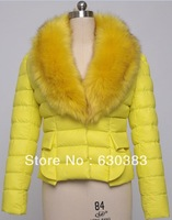 hot!! 2013 brand down jacket winter fashion Women parka with imitation fur collar women's snow jackets female cotton-padded XXL