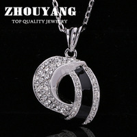 Top Quality ZYN416 Simple Style 18K White Gold Plated Fashion Pendant Jewelry Made with Austria Crystal  Wholesale