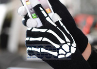 Classical fashion skull gloves touch capacitive touch screen gloves SD-ST025