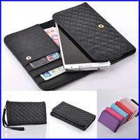 Fashion women handbag Universal Phone Bag Leather Wallet Case For Samsung Galaxy note 1 N7000 note 2 N7100 note 3 N9000