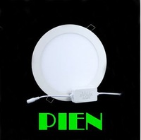 9W led panel down light round smd2835 thin ceiling focos lamp flat recessed modern bathroom office 120V 230V by DHL 20pcs/lot