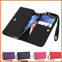 Universal Women Handbag Wallet Case For iphone 4S 5S 5C PU Leather Phone Bags cases for iphone 4/4S 5/5S 5C with strip wrist