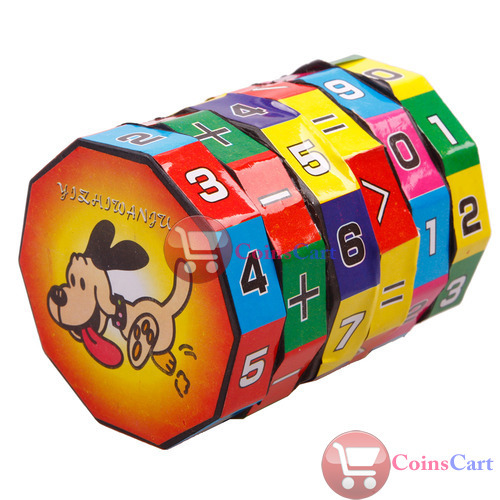 [Coins Cart] New Children Kids Mathematics Numbers Magic Cube Toy Puzzle Game Gift wholesale(China (Mainland))