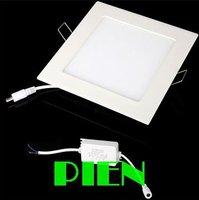 4500K 10W square led panel lights 2835 smd recessed ceiling wall lamp modern bathroom kitchen home 110V 230V by DHL 10pcs/lot