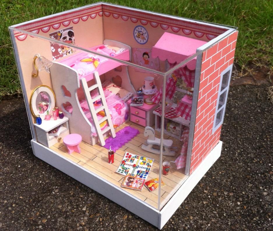 Как сделать из коробки кукольный домик 692