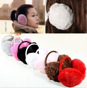Min order $ 10 free shipping  Hot winter 2015 fashion Plush velvet ear warm winter warm earmuffs for women ear package oversized