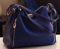 2013 new female han edition retro frosted rivet leather personality hand shoulder bag with free shipping wholesale women handbag
