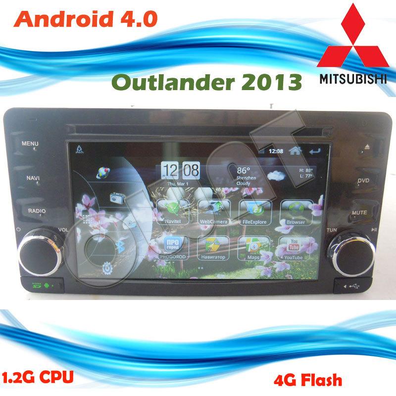 New! Samsung Arm Cortex A8 1GHz CPU 2013 Mitsubishi Outlander Mitsubishi Lancer Car DVD Car GPS Pure Android 4.0 Built-in WIFI(China (Mainland))