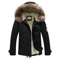 brand coat men winter wadded fabric parka fur  2013 the newest winter coat for men cotton thickening so fashion coat for winter