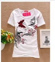 Hot sale !!!   good quality women T shirt short sleeve t-shirts  2015 summer top tees o-neck tshirts for woman