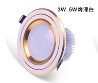 LED CE&ROHS  5W  100~120 degree down light AC85-265VCool white/Warm white,Aluminum 6pcs/lot,5W led lighting,free shipping