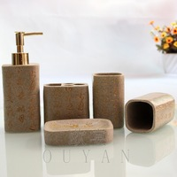 Luxury Chinese Calligraphy ART Bathroom Sets Home Bath Product Accessories Supplies 5pcs/set Christmas gift Wedding Hotel/KTV